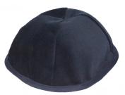 """9"""" Blue Velvet Jewish Kippah Orthodox Yarmulka Kippa 4panel Skullcap 23cm"""