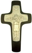 Resin Pope Francis Papal Crucifix the Good Shepherd Wall Cross, 25cm
