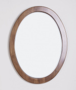 American Imaginations Traditional Birch Wood-Veneer Wood Mirror, 60cm . W x 80cm .H, Distressed Antique Cherry