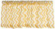 Sweet Potato by Glenna Jean, Swizzle Yellow Valance - 180cm x - Yellow Chevron