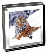 The original acrylic 4x4 MAGNET FRAME with Graphite Edge by Canetti® - 4x4