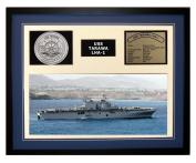 Navy Emporium USS Tarawa LHA 1 Framed Navy Ship Display Blue