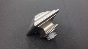 Brushed Nickel - Square Finials for 2.5cm Drapery Iron Hardware - sold as a pair