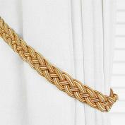 Ayygift1 Pair Vintage Knitted Curtain Rope Buckle Decorative Tiebacks