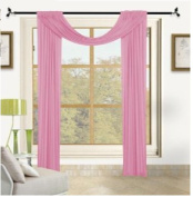 1 X Beautiful Elegant Voile Sheer Valance Scarf 90cm X 550cm Topper Light Pink Baby Pink Pink