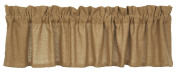 New Burlap Design Valance Window Treatments Unlined 100% Cotton 180cm x 36cm in Tan with Natural Sand Colour IHF