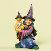 Jim Shore for Enesco Heartwood Creek 11cm Witch Figurine, Mini
