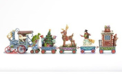 Jim Shore for Enesco Heartwood 5-Piece Creek Holiday Express Train Set, 8.9cm