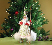 Patience Brewster Candlelight Santa Figure - Krinkles Christmas Décor New 08-30686