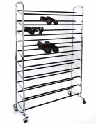 Home it shoe organiser shoe storage Chrome Supreme 50 Pair Shoe Rack closet shoe organiser