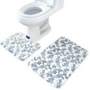 Kingfansion 2PCS Rugs Memory Foam Bathroom Floor Mats Carpet