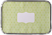 Simply Baked Baking and Take-out Foil Pan with Paper Lid (pack of 4), Large Rectangle, Lime Starburst