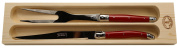 Jean Dubost Laguiole Carving Set with Red handles
