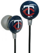 iHip MLF10169MIN MLB Minnesota Twins Printed Ear Buds, Blue/Red