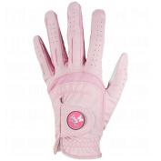 Lady Classic Ladies Soft Flex Ball Marker Golf Gloves, Pink