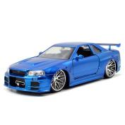 Jada Toys Fast & Furious 1:24 Diecast - 2002 fits Nissan Skyline GT-R R34 - Blue