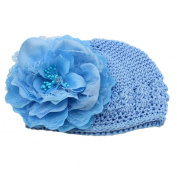 PromiseTrue Cute Baby Girl Peony Flower Cotton Cap,Blue