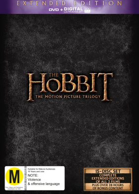 The Hobbit: The Motion Picture Trilogy (Extended Edition DVD/UV)