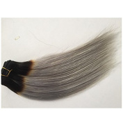 36cm -70cm Fashion 1B/Silver Grey Colour Ombre Silky Straight Human Hair Weave 1 Bundle 100g