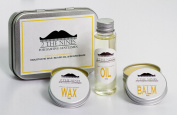 2 The NinesTM Moustache Wax, Beard Oil & Beard Balm - Lemon & Lime Beard Care Kit