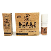 Sir Reginalds Beard Growth Spray - The Solution for the Perfect Beard - 100 % Natural Formula - Fuller, Thicker, Darker- TWO PACK