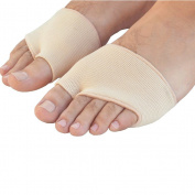 LEORX Pair of Gel Forefoot Metatarsal Pain Relief Absorber Cushion Pads - Size S