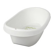 IKEA LATTSAM - Baby bath, white, green