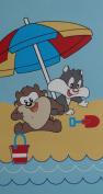 "BASSETTI BEACH TOWEL ""WE PLAY"" 60X110 CM"