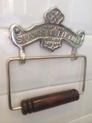 Vintage Antique style St Pancras Pewter Finish solid brass Toilet Roll Holder wall mounted Loo Paper dispenser TRH-50PW