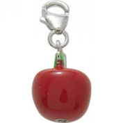 Silver Apple Charm damour Murat Paris Red