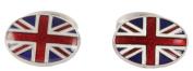 Red/White/Blue Union Jack Enamel Cufflinks by David Aster