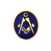 Dalaco Oval Blue & Gold Plated Masonic Tie Tac