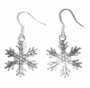 Frozen Snowflake Sterling Silver Earrings Matching Necklace Available