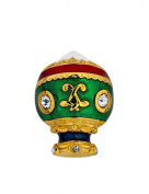 Gold plated and enamelled CABOUCHON pin with Cubic Zirconia ,The first manned hot-air balloon, designed by the Montgolfier brothers.