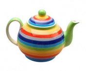 Windhorse Rainbow Striped Ceramic Teapot
