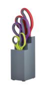 Kitchen Craft 3-Piece Colourworks Soft Grip Kitchen Scissor Set with Storage Block, Multi-Colour