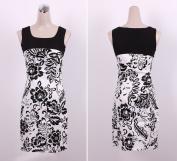 Monochrome Floral Print Dress -