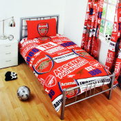 Arsenal FC Childrens/Kids Official Patch Football Crest Duvet Set (Double)