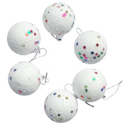 12Pcs Colourful Snowball Christmas Tree Hanging Ornament Decoration Foam Products Gifts For Yard Garden Home