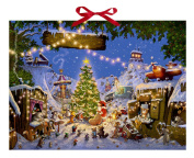 Coppenrath Christmas Market of Animals Huge Traditional German Advent Calendar 52 cm wide x 38 cm