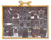 Coppenrath A Christmas Town very large flat Traditional German Advent Calendar 53 cm wide x 38 cm