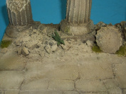 1/35 Scale Classical Ruined pillars - 4 pieces