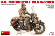 Miniart 1:35 - U.S. Motorcycle WLA With Rider -
