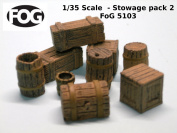 1/35 Scale - Stowage pack 2 - Barrels and boxes