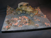 1/35 Scale Vignette base 'In the Ruins' - Large 240 x 220mm base