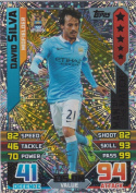 Match Attax 2015/2016 David Silva Man Of The Match Trading Card 15/16