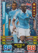 Match Attax 2015/2016 Fernandinho & Y Toure Manchester City Duo Trading Card 15/16