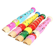 seguryy 1pc 6 Holes Wooden Clarinet Musical Instrument Toys Piccolo Flute For Unisex Children
