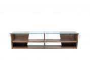 Temahome Oliva TV Bench with Glass Top, 170cm , Walnut