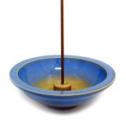 Shoyeido's Azure Round Ceramic Incense Holder